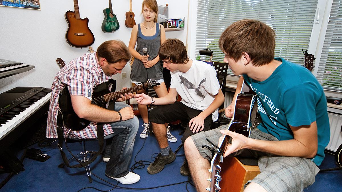 Teen Musikunterricht Unterricht